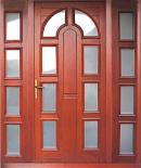 Usa exterior din lemn masiv de stejar 210x160 - UE001