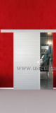 Usa culisanta langa perete Semplice, model Cieca, culoare palisandro bianco