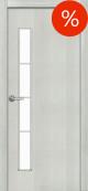 Usa de interior Standart 11, cu geam, culoare Alb, latime 700 mm
