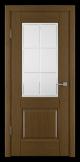 Usi Lemn Furnir Stejar Culoare Castan - Profil 1 cu Geam