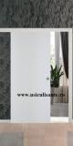 Usi culisante langa perete, model Cieca, culoare alba (bianco)